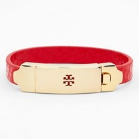 Tory Burch Logo Plate Embossed Leather