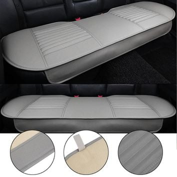 General Car Seat Cushions Mat Charcoal Auto Double Back Seat Pad Breathable Anti-slip Synthetic Leather Car Rear Seat Cover