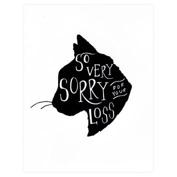 So Very Sorry Cat Pet Sympathy Card