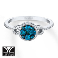 Le Vian Diamond Ring 1/2 ct tw Round-cut 14K Vanilla Gold