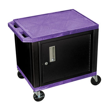 H. Wilson Mobile Multipurpose Storage Utility Tuffy Cart Lockable Cabinet No Electric Purple Black Legs