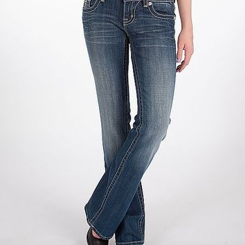 Miss Me Metallic Inset Boot Stretch Jean