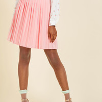 Pleats as Punch A-Line Skirt in Pink | Mod Retro Vintage Skirts | ModCloth.com