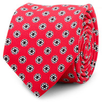 Star Wars Imperial Symbol Red Skinny Mens Tie