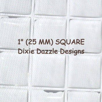 100 SQUARE epoxy stickers, 1 inch, 25 mm seals for journaling, birthday crafts, resin drops, seals for magnets, diy jewelry