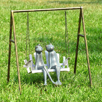 SPI Garden Collection Frogs on Porch Swing Garden Sculpture