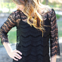 Icing On The Lace Top Black