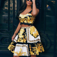 Versace Woman Fashion Top Shorts Set Two Piece