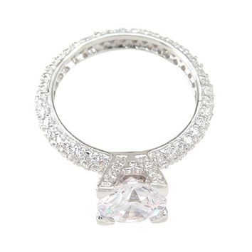 925 Sterling Silver Eternity Wedding Ring 1.5 Carat Weight- Size 8