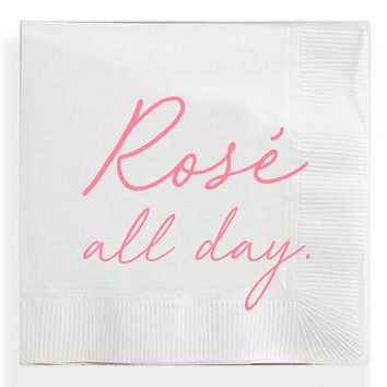 Rosé All Day Amusing Cocktail Napkins