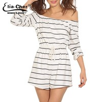 Women Stripe New Women Jumpsuit Plus Size Casual Women Clothing Chic Fitness