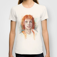 Leeloo Portrait | Multipass | The Fifth Element Watercolor T-shirt by Olechka