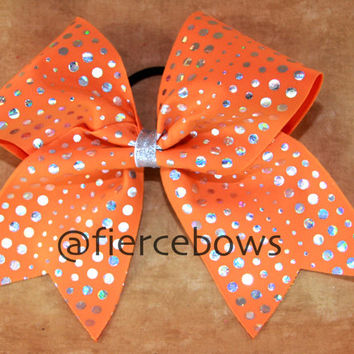 Orange Crush Cheer Bow