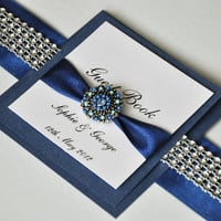 Wedding Guest Book - Personalized - Navy Blue