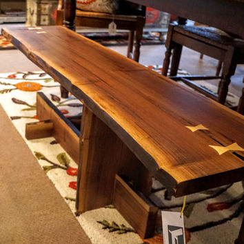 Modern Black Walnut Coffee Table/ Cantilever Coffee Table