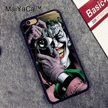 Batman Dark Knight gift Christmas MaiYaCa Batman Joker Case for Apple iPhone 6S 6 TPU Case for iPhone 6 6s Soft Rubber Skin Back Covers shell AT_71_6