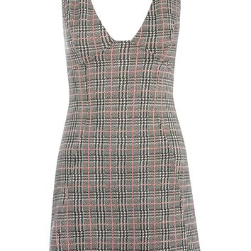 Check A-Line Pinafore Dress | Topshop