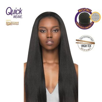 QUICK WEAVE HALF WIG - LONG STRAIGHT - BRAZILIAN BOUTIQUE - VOLUME PRESSED