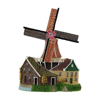 Holland Souvenir Kitchen Magnet Windmill