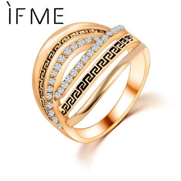 New Kpop Spiral Rings Elements Crystals bridal sets Finger Rings For Women Bijoux Fashion Jewelry