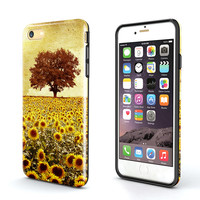 Tough iPhone 6S Plus Case,sunflower tree iPhone 6S Case,iPhone 6 Case,iPhone 5S Case