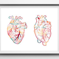 The Human Heart watercolor print