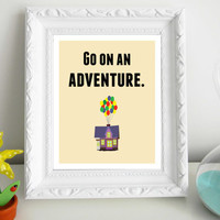 Up Go On an Adventure Print 8 x 10