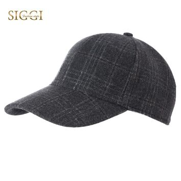 Trendy Winter Jacket FANCET Winter Autumn Unisex Baseball Caps For Women Men Plaid Print Wool Soft Adjustable Snapback Hats Gorros Male Female 89504 AT_92_12