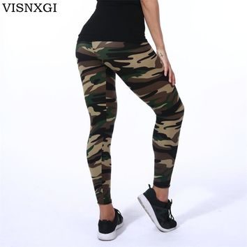 Leggings Yoga Gym Fitness Athleisure Workout Running Zumba Camo Multicolor