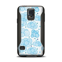 The White and Blue Raining Yarn Clouds Samsung Galaxy S5 Otterbox Commuter Case Skin Set