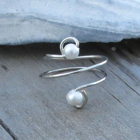 Pearl Upper Finger Ring Toe Ring Custom Colors