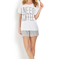 I Need Coffee PJ Set