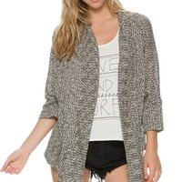 SWELL MIX UP SPECKLED OPEN CARDIGAN