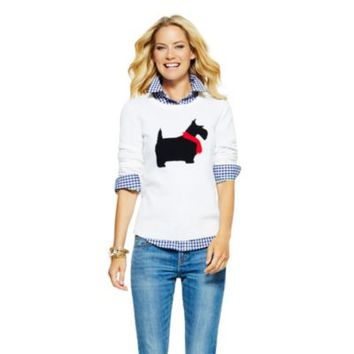 Women's Sweaters - Scottie Intarsia Sweater | C. Wonder