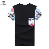 Men's Fashion Floral Design T-Shirt