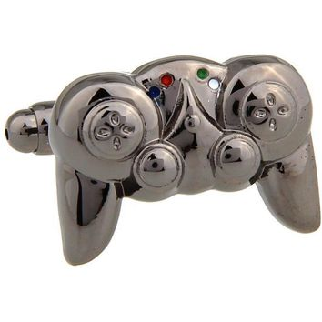 Black color novel gamepad cufflink