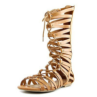 American Rag Maya Women Open Toe Synthetic Tan Gladiator Sandal