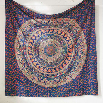 Large Indian Mandala Tapestry Queen tapestry Wall Hanging Bohemian Bedspread Dorm Decor Throw