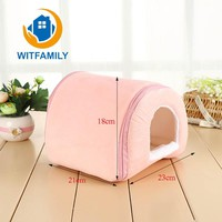 Bunny Cotton Hollow Pet Supplies Holland Pig Winter Warm Sleeping Cages Totoro Cattle House Hedgehog Squirrel Thick Pet Supplies
