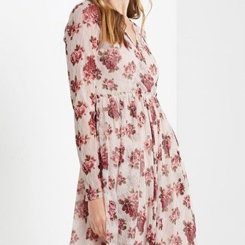 Careese Floral Lace Midi Dress