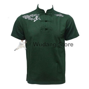 Dark Green Short Sleeve Martial Arts T-Shirt