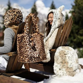 Fur Cheetah Tote Bag