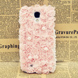 3D Flower & Lace Samsung Galaxy S4 Case (Baby Pink)