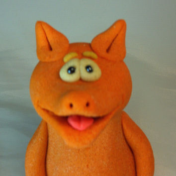 Fox. FREE SHIPPING!  Decorative figurine. Handmade. Made from salt dough.