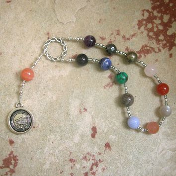 Greek God Prayer Beads in Stone: For the Gods of Olympus, the Dodecatheon