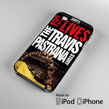 Travis Pastrana Motocross Racer Story A1199 iPhone 4 4S 5 5S 5C 6, iPod Touch 4 5 Cases