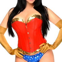 Plus Size Sexy Powerful Woman Corset Costume