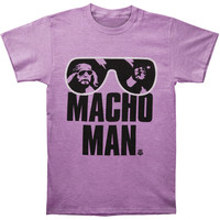 WWE Men's  WWE Macho Man Authentic T-shirt Purple
