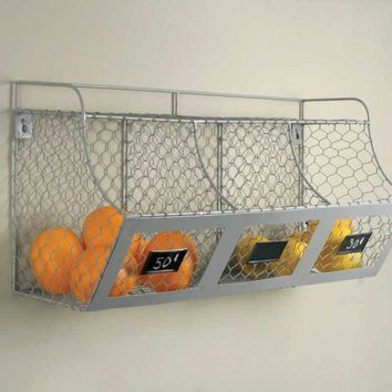 Farmhouse Chicken Wire Multi Bin