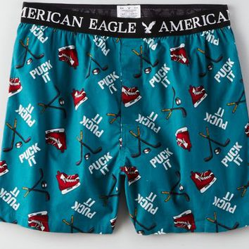 AEO Men's Hockey Boxer (Teal)